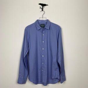 Bonobos Blue Slim FIt Long Sleeve Button Up Shirt